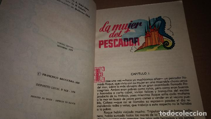 Libros de segunda mano: LA MUJER DEL PESCADOR COLECCION PARA LA INFANCIA BRUGUERA 3º EDI.1959 - Foto 2 - 91393260