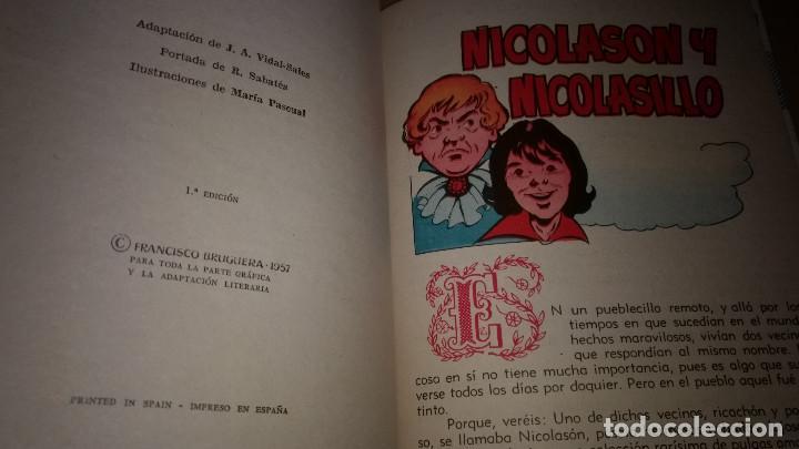 Libros de segunda mano: NICOLASON Y NICOLASILLO COLECCION PARA LA INFANCIA BRUGUERA 1º EDI.1957 - Foto 2 - 91393440