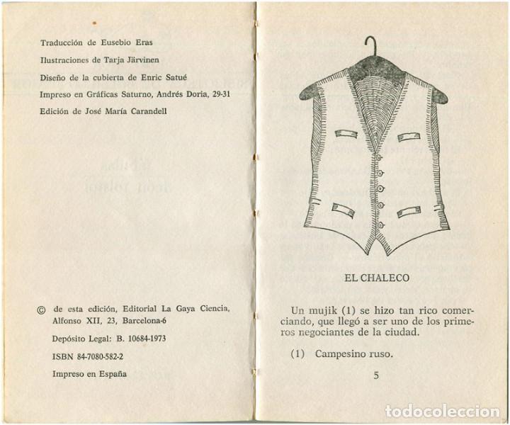 Libros de segunda mano: León Tolstoi - Fábulas - Moby Dick #28 (1ª Ed.) Barcelona 1973 - Satué - Foto 3 - 92841770