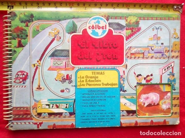 LIBRO JUGUETE EL LIBRO DEL TREN COIBEL AÑOS 50? 8 PAGINAS EN CARTONE RIGIDO (Libros de Segunda Mano - Literatura Infantil y Juvenil - Cuentos)