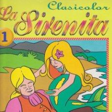 Livros em segunda mão: CLASICOLOR Nº 1. LA SIRENITA. (31X24) CUENTO PARA COLOREAR. 20 PÁGINAS.. Lote 93351355