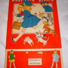 Libros de segunda mano - MARI-PEPA Y RENATA Nº44 AÑO 1953 [EN PERFECTO ESTADO Y CON SU SUPLEMENTO RECORTABLE] - 93378305