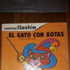 Libros de segunda mano: CUENTOS ILUSION:EL GATO CON BOTAS/HANS EL DE LA SUERTE/ROBIN HOOD/EL REY MIDAS (SUSAETA 1981). Lote 95614796