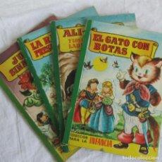 Libros de segunda mano: 4 CUENTOS BRUGUERA COLECCIÓN PARA LA INFANCIA GATO CON BOTAS RATITA PRESUMIDA JUAN SINMIEDO ALI-BABÁ. Lote 95835699