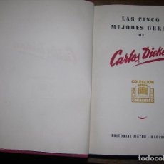 Libros de segunda mano: (F.1) LAS CINCO MEJORES OBRAS DE CARLOS DICKENS AÑOS 40 O 50. Lote 96572071