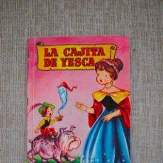 Libros de segunda mano: COLECCIÓN PARA LA INFANCIA - BRUGUERA - LA CAJITA DE YESCA - SABATÉS, CIFRÉ - 1ª EDICIÓN 1959. Lote 98757651