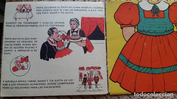 Libros de segunda mano: LAS VACACIONES DE JUANA MARIA. NARRACION DE LEONOR DEL CORRAL. VESTIDOS INTERCAMBIABLES. MOLINO 1943 - Foto 3 - 98788083