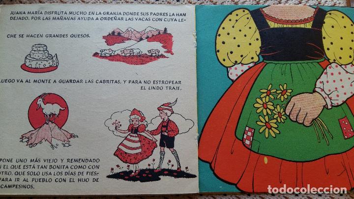Libros de segunda mano: LAS VACACIONES DE JUANA MARIA. NARRACION DE LEONOR DEL CORRAL. VESTIDOS INTERCAMBIABLES. MOLINO 1943 - Foto 4 - 98788083