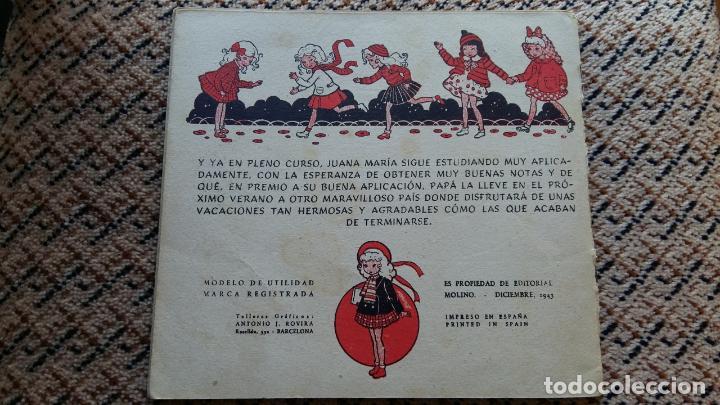 Libros de segunda mano: LAS VACACIONES DE JUANA MARIA. NARRACION DE LEONOR DEL CORRAL. VESTIDOS INTERCAMBIABLES. MOLINO 1943 - Foto 5 - 98788083