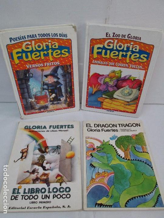 GLORIA FUERTES. EL DRAGON TRAGON. EL LIBRO LOCO. VERSOS FRITOS. ANIMALES QUE CORREN, VUELAN.. (Libros de Segunda Mano - Literatura Infantil y Juvenil - Cuentos)