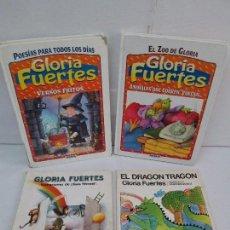 Libros de segunda mano: GLORIA FUERTES. EL DRAGON TRAGON. EL LIBRO LOCO. VERSOS FRITOS. ANIMALES QUE CORREN, VUELAN... Lote 100545583