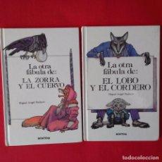 Libros de segunda mano: LA OTRA FÁBULA DE: EL LOBO Y EL CORDERO. LA ZORRA Y EL CUERVO. MIGUEL ANGEL PACHECO. MONTENA 1988. Lote 101732795