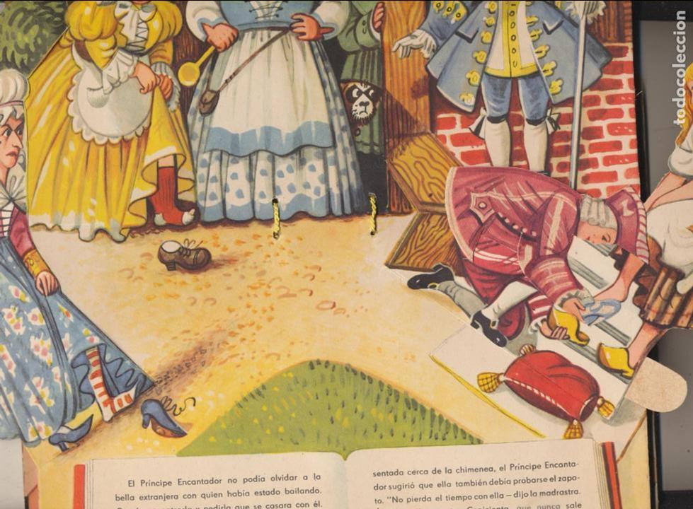 Libros de segunda mano: La Cenicienta. Cuento troquelado desplegable.(26x20) con 8 bellas escenas. RARO... - Foto 2 - 101735967