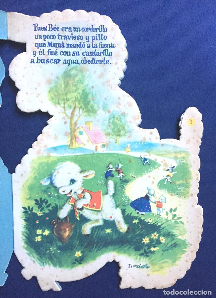Libros de segunda mano: Cuento Troquelado BÉE EL CORDERITO TRAVIESO Ferrándiz Vilcar 4ª Edición + Accesorio Juguete Años 60 - Foto 3 - 103188435