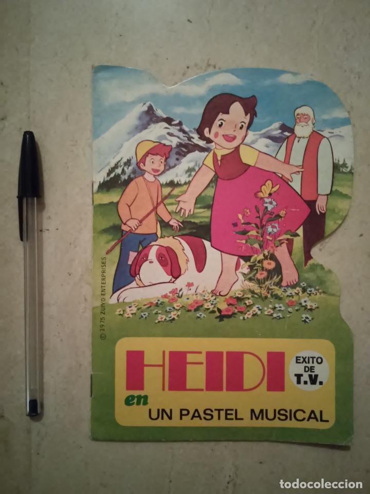 CUENTO TROQUELADO - HEIDI UN PASTEL MUSICAL - INFANTIL - BRUGUERA - AÑO 1975 (Libros de Segunda Mano - Literatura Infantil y Juvenil - Cuentos)