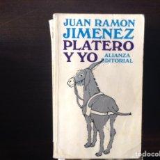 Libros de segunda mano: PLATERO Y YO. JUAN RAMÓN JIMÉNEZ. Lote 104250431