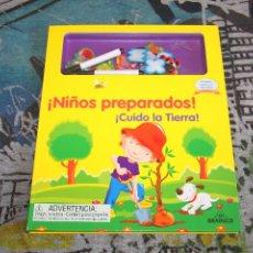 Libros de segunda mano: ¡NIÑOS PREPARADOS! - ¡CUIDO LA TIERRA! - INCLUYE 24 IMANES Y 2 MARCADORES - GRAFALCO. Lote 94537796