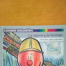 Libros de segunda mano: CUENTOS INFANTILES LA CIGARRA Y LA HORMIGA. Lote 105894283
