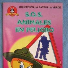 Libros de segunda mano: COLECCION LA PATRULLA VERDE. SOS, ANIMALES EN PELIGRO. EDICIONES GAVIOTA 1997.. Lote 106612159