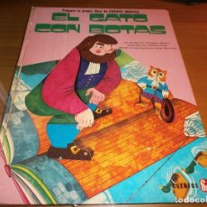Libros de segunda mano: EL GATO CON BOTAS. PREPARA TU PROPIO LIBRO DE FIGURAS MÓVILES - CUENTO POP UP - EDT. FHER, 1974.. Lote 106997927