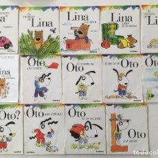 Libros de segunda mano: LOTE DE 14 CUENTOS DE SANTILLANA - DE OTO Y LINA - CON NOMBRE DE ANTERIOR PROPIETARIA. Lote 107972887