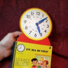 Libros de segunda mano: MI RELOJ. UN DIA DE COLE. EDITORIAL ROMA. AÑO 1981. LAS AGUJAS DEL RELOJ SE MUEVEN.POP-UP. Lote 109465391