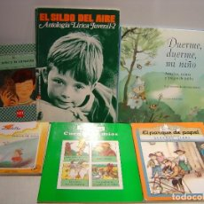 Libros de segunda mano: LOTE DE 6 LIBROS DE POESIA INFANTIL. Lote 110140775