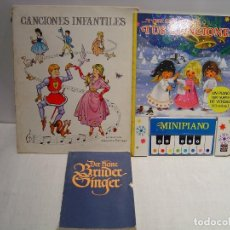 Libros de segunda mano: LOTE DE 3 LIBROS DE CANCIONES INFANTILES. Lote 110142011