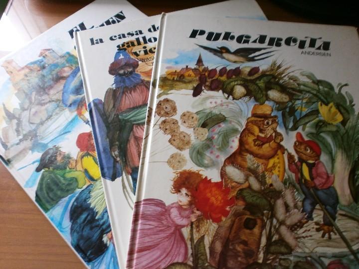 LOTE 5 LIBROS CUENTOS COLECCIÓN ESMERALDA - ILUSTRACIONES FERNANDO SAEZ - EDT. SUSAETA, MADRID 1971 (Libros de Segunda Mano - Literatura Infantil y Juvenil - Cuentos)