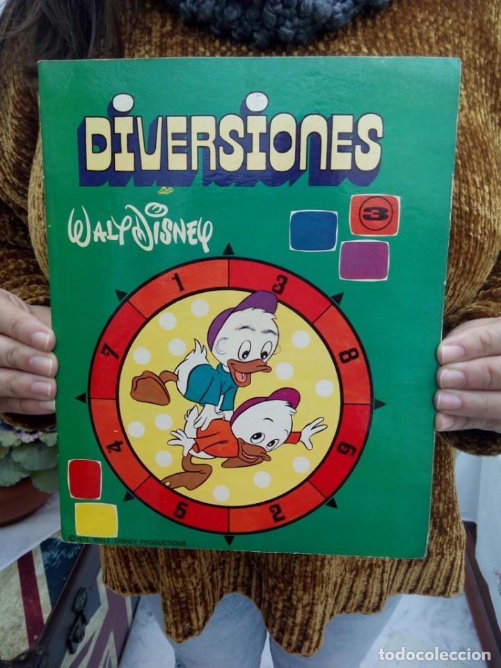 TUBAL DIVERSIONES DISNEY 3 27 CM 190 GRS GARABATOS 1972 (Libros de Segunda Mano - Literatura Infantil y Juvenil - Cuentos)