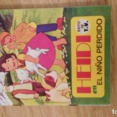 Libros de segunda mano: ANTIGUO CUENTO TROQUELADO DE HEIDI - HEIDI EN EL NIÑO PERDIDO - EDITORIAL BRUGUERA -. Lote 112366475
