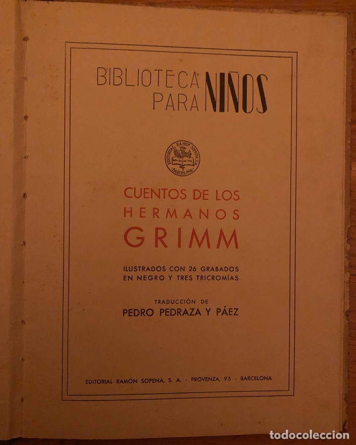 Libros de segunda mano: Cuentos de los hermanos Grimm. - Foto 2 - 113529748