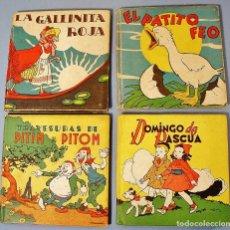 Libros de segunda mano: 4 CUENTOS ILUSTRADOS DE EDITORIAL MOLINO. PATITO FEO, GALLINITA ROJA, DOMINGO DE PASCUA, .AÑOS 30-40. Lote 113583843