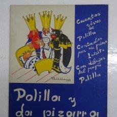 Libros de segunda mano: POLILLA Y LA PIZARRA DEL REY MELCHOR , INCLUYE 2 HOJAS CON RECORTABLE. 24X33 CMS. Lote 114440079