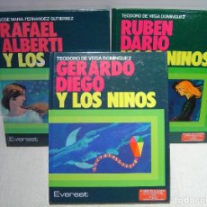 Libros de segunda mano: GERARDO DIEGO - RUBÉN DARÍO - RAFAEL ALBERTI Y LOS NIÑOS - EVEREST. Lote 114490663