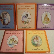 Libros de segunda mano: LOTE DE CINCO CUENTOS DE BEATRIX POTTER - ALLAN PUBLISHERS - VER TÍTULOS EN FOTOS. Lote 114492447
