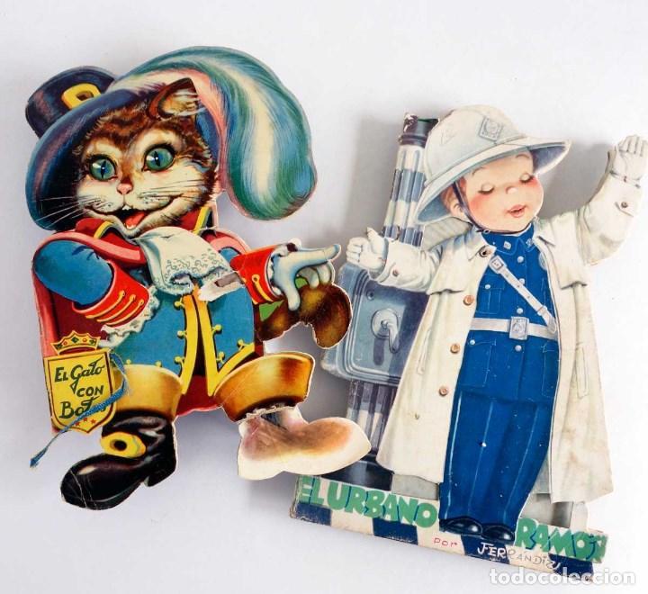 LOTE 2 CUENTOS TROQUELADOS 1953-59. (Libros de Segunda Mano - Literatura Infantil y Juvenil - Cuentos)