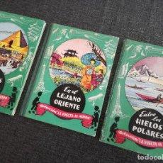 Libros de segunda mano: COLECCIÓN VUELTA AL MUNDO ENTRE LOS HIELOS POLARES, EN EL LEJANO ORIENTE, ENTRE ESFINGES Y PIRÁMIDES. Lote 115322411
