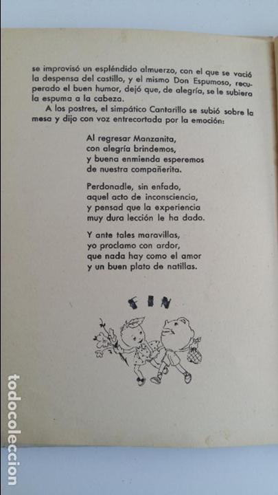 Libros de segunda mano: CUENTO INFANTIL MANZANITA DE ORO. EDIC HYMSA. - Foto 6 - 115774227