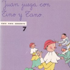 Libros de segunda mano: JUAN JUEGA CON TINO Y ZANO - EDITORIAL ONDA 1988. Lote 144014721