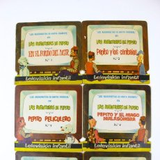Libros de segunda mano: CU-137. COLECCION COMPLETA (6 NUMEROS) LAS AVENTURAS DE PEPITO. CUENTOS TROQUELADOS . AÑO1962. Lote 152131662