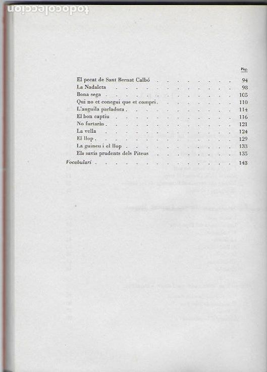 Libros de segunda mano: Rondalles de R. Llull, Mistral i Verdaguer.prol. Carles Riba, Il. E. Elias, tria i adap. J. Sales. - Foto 4 - 118027279