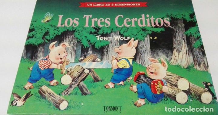 C62 LOS TRES CERDITOS LIBRO TRES DIMENSIONES POP UP DIORAMA TROQUELADO (Libros de Segunda Mano - Literatura Infantil y Juvenil - Cuentos)