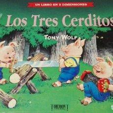 Libros de segunda mano: C62 LOS TRES CERDITOS LIBRO TRES DIMENSIONES POP UP DIORAMA TROQUELADO. Lote 121438219