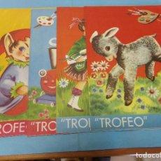 Libros de segunda mano: TROFEO, COMPLETA,COLECCION DE 4 CUADERNOS 1961, EDITORIAL ROMA. Lote 121961407