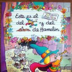 Libros de segunda mano: EL FLAUTISTA DE HAMELÍN ILUSTRACIONES DE JAN EDICIONES MP 1986 CUENTO NUEVO.. Lote 122525515