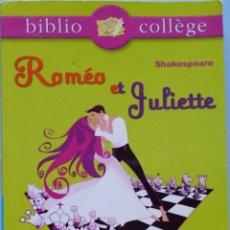 Libros de segunda mano: LIBRO EN FRANCES : ROMÉO ET JULIETTE Nº5. Lote 123044147