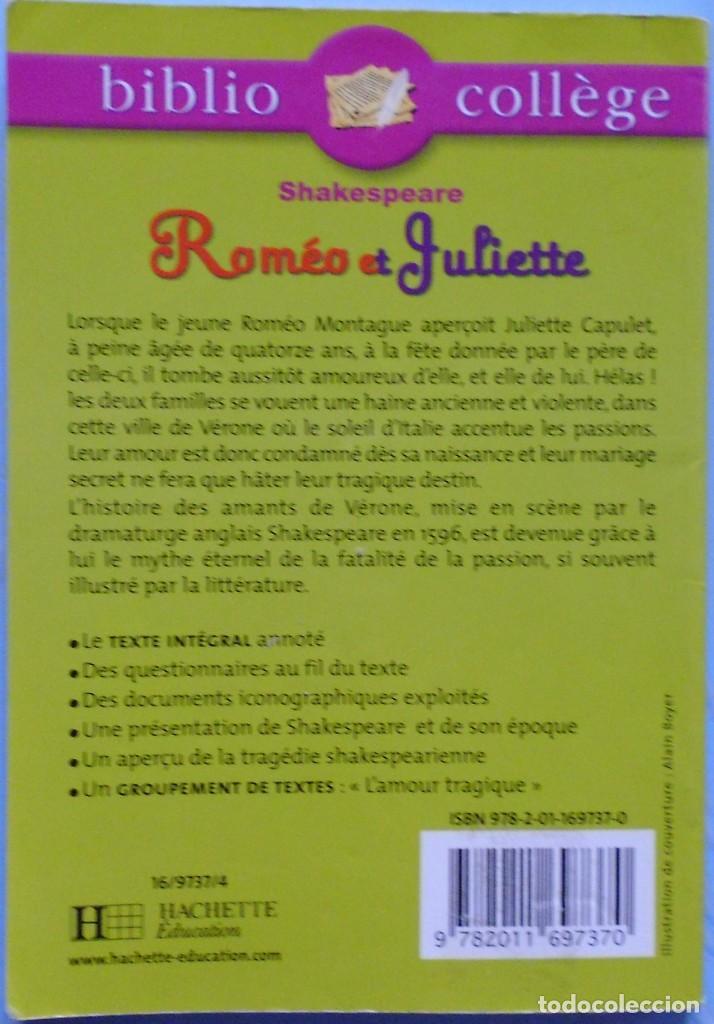 Libros de segunda mano: LIBRO EN FRANCES : ROMÉO ET JULIETTE nº5 - Foto 2 - 123044147