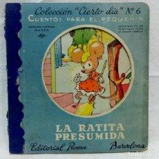 Libros de segunda mano: CUENTO TROQUELADO LA RATITA PRESUMIDA. EDITORIAL ROMA, BARCELONA.. Lote 123358191