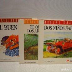 Libros de segunda mano: EL ORIGEN DE LOS ARMADILLOS - DOS NIÑOS SABIOS - EL BUEN LEÓN - KIPLING - GRAVES - HEMINGWAY -. Lote 123398971